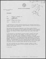 Memo from Jarvis Miller to William P. Clements Jr. regarding Illegal Alien Survey, September 29, 1982