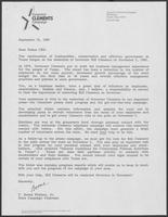 "Form Letter from T. Boone Pickens to ""fellow CEOs"" requesting campaign assistance, September 15, 1982"
