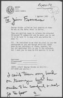 Memo from Janie Harris to William P. Clements, Jr., October 1, 1982