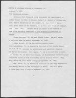 Office of the Governor's Press Release concerning Appointments, August 22, 1980