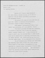 Press release from the Office of Governor William P. Clements, Jr. regarding appointments, March 8, 1979