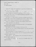 Press release from the Office of Governor William P. Clements, Jr. regarding appointments, May 8, 1980