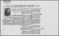 "Newspaper clipping headlined ""Commentary: Credibility Watch Report Number 1,"" June 29, 1986"