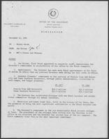 Memo from Joe Kirven to Hilary Doran regarding Governor William P. Clements Jr. and African American affairs, November 12, 1981