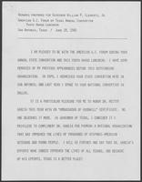Remarks prepared for William P. Clements, Jr., for American G.I. Forum of Texas convention, June 18, 1982