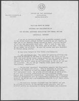 Position paper by Governor William P. Clements, Jr., regarding energy, 1979