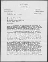 Letter from Thad Hutcheson to Peter O'Donnell regarding Election Accuracy Program, May 25, 1982