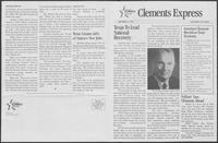 "Campaign promotional tabloid ""Clements Express,"" September 21, 1982"