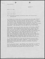 Confidential memo from Jack Rains to B.D. Daniel regarding background briefing on Houston, April 15, 1982
