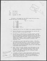 Annotated memo from Ben Gallant to Jim Francis regarding political advertisements targeting Christian voters, October 11, 1982