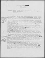 Draft of minutes from Real Estate Council of the Governor Clements Committee, April 30, 1980