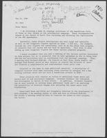 Memo from Wayne (Thorburn) to Chet regarding campaign activities of the Republican Party of Texas, May 14, 1980