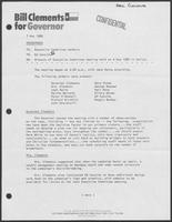 Memo from Ed Cassidy to Executive Committee Members, regarding minutes of executive meeting held on 4 May 1986 in Dallas, May 7, 1986