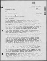 Memo from Karl Rove to William P. Clements, Jr., regarding primary opponents, November 29, 1985