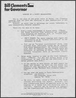 Group of documents related to William P. Clements, Jr. Republican primary campaign, 1986