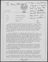 Memo from Jim Kaster to William P. Clements, Jr., regarding campaign, May 14, 1982