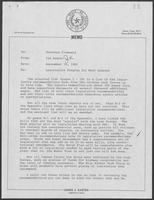 Memo from Jim Kaster to William P. Clements, Jr., regarding legislative program for next session, September 16, 1982
