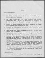Position Paper on the Economy issued by Bill Clements, September 5, 1986