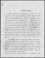 Remarks prepared for William P. Clements, Jr., regarding drugs and crime, undated