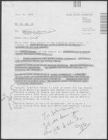 Memo from Karl Rove to George S. Bayoud and Reggie Bashar regarding Governor Mark White campaign material, July 26, 1986
