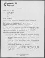 Memo from Jim Arnold to George Bayoud and others regarding Governor Mark White's criticism of Schlumberger company, July 22, 1986