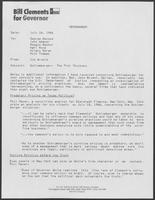 Memo from Jim Arnold to George Bayoud and others regarding Schlumberger Limited, July 24, 1986