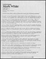 News release from Governor Mark White regarding crime and prison overcrowding, October 20, 1986