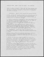 "Notes on a ""Job Creation"" campaign theme for William P. Clements, Jr., undated"