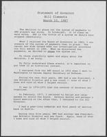 Statement of Governor Bill Clements, March 10, 1987