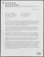 Letter from Spencer L. Taylor to the SEDCO Board of Directors regarding highlights of the Drilling Division's activities, May 19, 1972