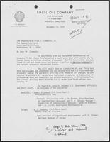 Letter from J.F. Bookout to William P. Clements, Jr., December 16, 1974