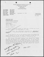 Letter from James T. Drakeley of Miller, Hiersche, Martens and Hayward to William P. Clements, September 24, 1986