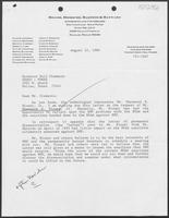 Letter from James T. Drakeley to William P. Clements, Jr., August 12, 1986