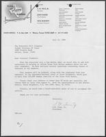 Letter from S.M. True, Jr. to William P. Clements, Jr. with reply, July-August 1986