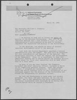 Letter from Robert H.B. Baldwin to William P. Clements, Jr., March 28, 1986