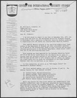 Group of documents regarding the Center for Strategic and International Studies in Washington, D.C., March 3, 1977-January 8, 1986