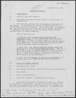 Outline of report for U.S National Bipartisan Commission on Central America, November 18, 1983
