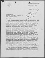 Letter from former Secretary of State Henry A. Kissinger letter to William P. Clements, Jr., August 16, 1983