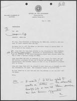 Memo from Polly Sowell to William P. Clements regarding Muse Air, May 5, 1982