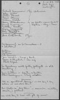 Handwritten meeting notes by William P. Clements, August-December, 1983