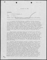 Memorandum from Ed Vetter to William P. Clements regarding the Southern Governors' Association Meeting, September 19, 1980