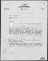 Correspondence between Amos L. Carter and William P. Clements, Jr., October 21 - November 20, 1972