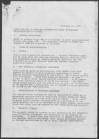 Draft Outline of Possible Alternative Forms of Business Representation in Algeria, February 16, 1979