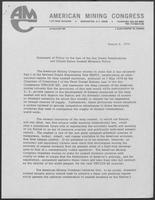 Statement of Policy on the Law of the Sea Treaty Negotiations and United States Seabed Minerals Policy, August 6, 1976