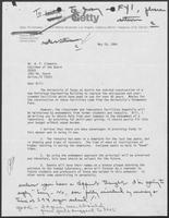 Letter from Robert N. Miller to William P. Clements, Jr., May 29, 1984