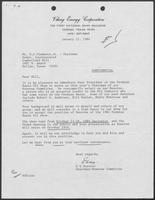 Correspondence between E.G. Durrett and William P. Clements, January 11 - January 18, 1984