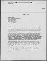 Letter from Edwin A. Albritton to Board of Trustees, Circle of Ten Boy Scouts Foundation regarding Economic Statistics, June 17, 1975