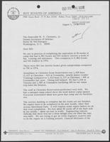 Letter from J.L. Tarr to William P. Clements regarding Clements Scout Reservation statistics, August 1, 1975