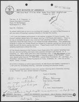 Letter from J.L. Tarr to William P. Clements regarding Scouting Activities, October 22, 1975