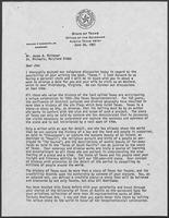 Letter from William P. Clements, Jr. to James A. Michener, June 26, 1981